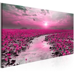 Artgeist Wandbild - Lilies and Sunset (1 Part) Narrow