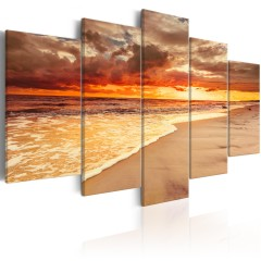 Artgeist Wandbild - Sea: Beautiful Sunset
