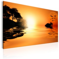 Artgeist Wandbild - The Island of the Setting Sun