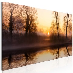 Artgeist Wandbild - Winter Sunset (1 Part) Narrow