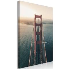 Artgeist Wandbild - Golden Gate Bridge (1 Part) Vertical