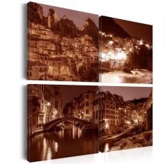 Artgeist Wandbild - Italian Towns (Sepia)