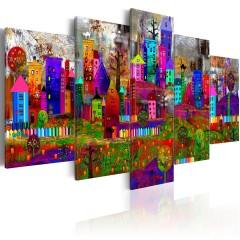 Artgeist Wandbild - The City of Expression