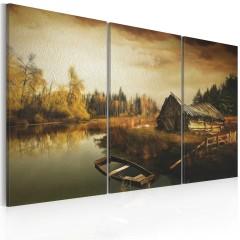 Artgeist Wandbild - Idyllic village - triptych