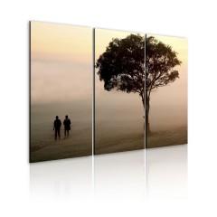 Artgeist Wandbild - Spaziergang im Morgengrauen