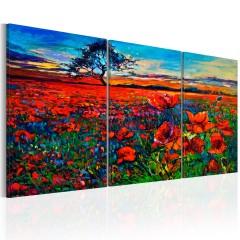 Artgeist Wandbild - Valley of Poppies