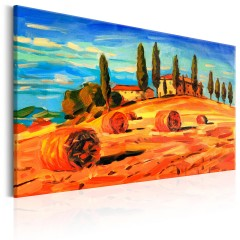 Artgeist Wandbild - August in Tuscany