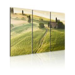 Artgeist Wandbild - Die Sonne über Toskana