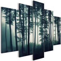 Artgeist Wandbild - Dark Forest (5 Parts) Wide