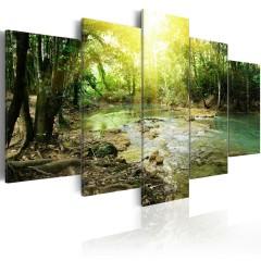 Artgeist Wandbild - Forest river