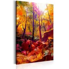 Artgeist Wandbild - Gemalter Wald