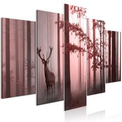 Artgeist Wandbild - Morning (5 Parts) Wide Pink
