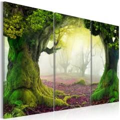 Artgeist Wandbild - Mysterious forest - triptych