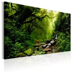 Artgeist Wandbild - Waterfall in the Forest