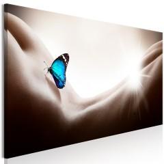 Artgeist Wandbild - Woman and Butterfly (1 Part) Narrow