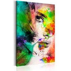 Artgeist Wandbild - Farben der Weiblichkeit