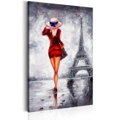 Artgeist Wandbild - Lady in Paris