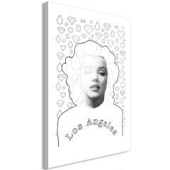 Artgeist Wandbild - Marylin Monroe (1 Part) Vertical
