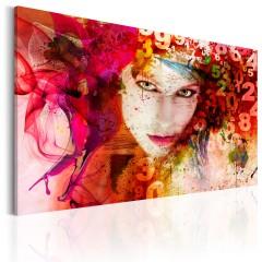 Artgeist Wandbild - Die Frau ist ein Geheimnis