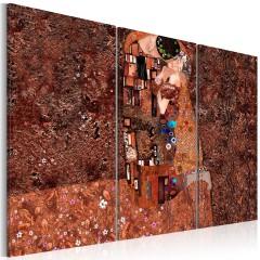 Artgeist Wandbild - Klimt Inspiration - Die Farbe der Liebe