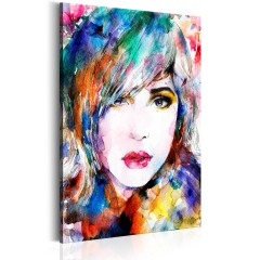 Artgeist Wandbild - Regenbogen-Mädchen