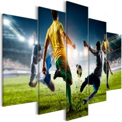 Artgeist Wandbild - Decisive Tackle (5 Parts) Wide
