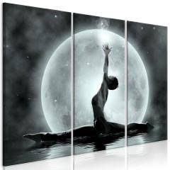 Artgeist Wandbild - Twine (3 Parts) Grey