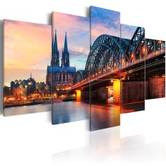 Artgeist Wandbild - Evening in Cologne