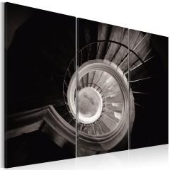 Artgeist Wandbild - Mit der Wendeltreppe nach unten