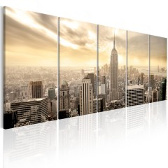 Artgeist Wandbild - New York: View on Manhattan
