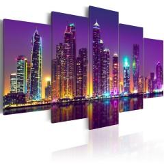 Artgeist Wandbild - Purple Nights