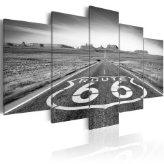 Artgeist Wandbild - Route 66 - black and white