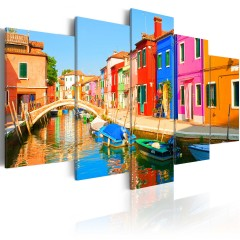 Artgeist Wandbild - Waterfront in rainbow colors