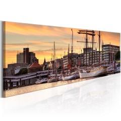 Artgeist Wandbild - Port in Hamburg