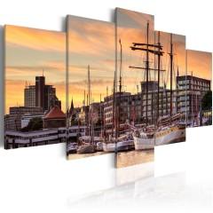 Artgeist Wandbild - Port of Hamburg