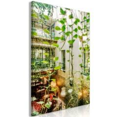 Artgeist Wandbild - Cracow: Cafe with Ivy (1 Part) Vertical