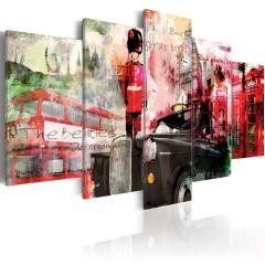 Artgeist Wandbild - Erinnerungen aus London - 5 Teile