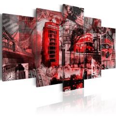 Artgeist Wandbild - Londoner Collage - 5 Teile