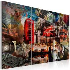 Artgeist Wandbild - Londoner Collage - Triptychon