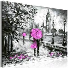 Artgeist Wandbild - Walk in London (1 Part) Wide Pink