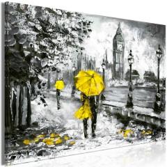 Artgeist Wandbild - Walk in London (1 Part) Wide Yellow