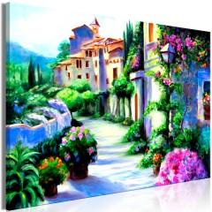 Artgeist Wandbild - Flower Street (1 Part) Wide