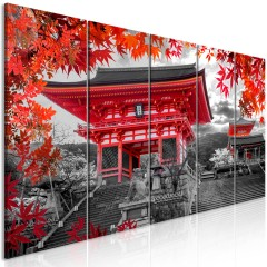 Artgeist Wandbild - Kyoto, Japan (5 Parts) Narrow