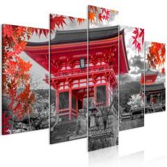 Artgeist Wandbild - Kyoto, Japan (5 Parts) Wide