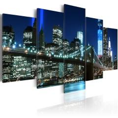 Artgeist Wandbild - Blaues New York