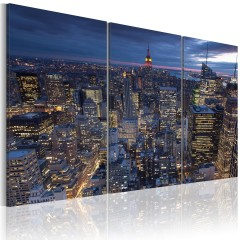 Artgeist Wandbild - Blick von oben - NYC