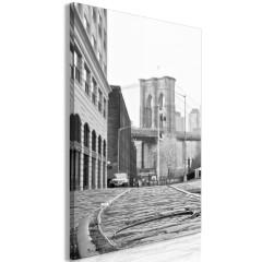 Artgeist Wandbild - Brooklyn Bridge (1 Part) Vertical