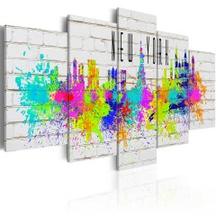 Artgeist Wandbild - Colorful New York