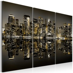 Artgeist Wandbild - Das Gold von New York