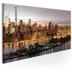 Artgeist Wandbild - Evening Manhattan